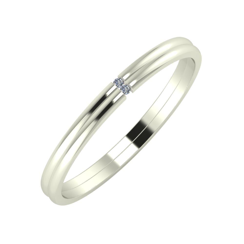 Adalind - Adalind 2mm 14 karátos fehér arany karikagyűrű