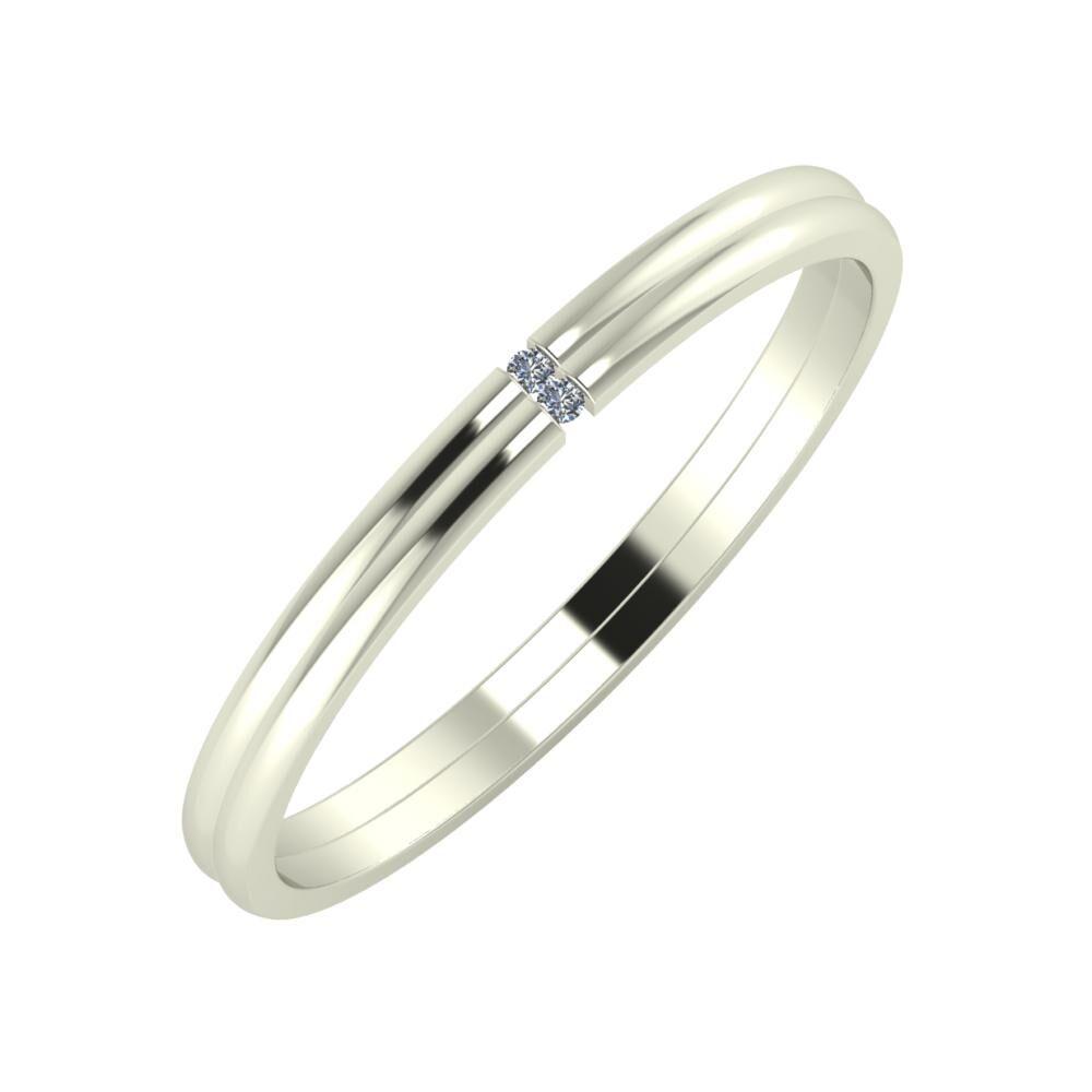 Adalind - Adalind 2mm 18 karátos fehér arany karikagyűrű
