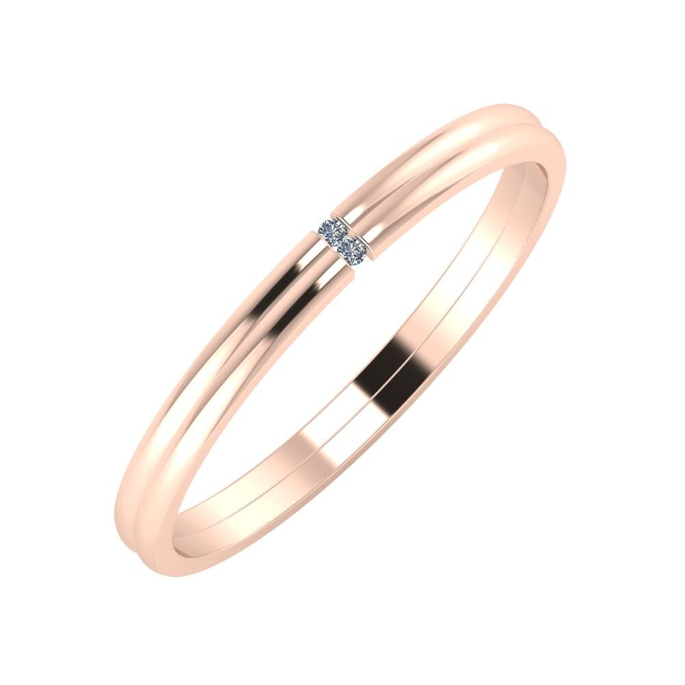 Adalind - Adalind 2mm 18 karátos rosé arany karikagyűrű