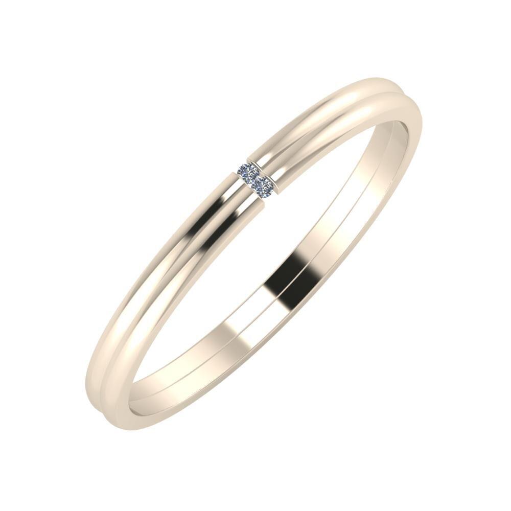 Adalind - Adalind 2mm 22 karátos rosé arany karikagyűrű