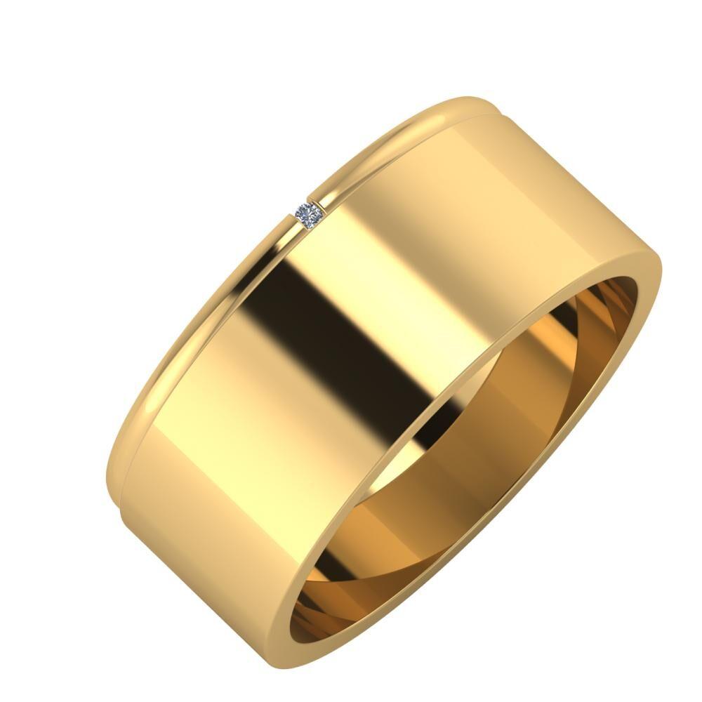 Adalind - Adela 8mm 18 karátos sárga arany karikagyűrű