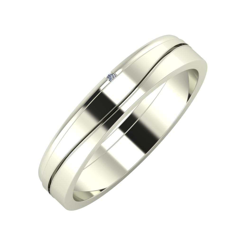 Adalind - Adelinda 4mm 18 karátos fehér arany karikagyűrű