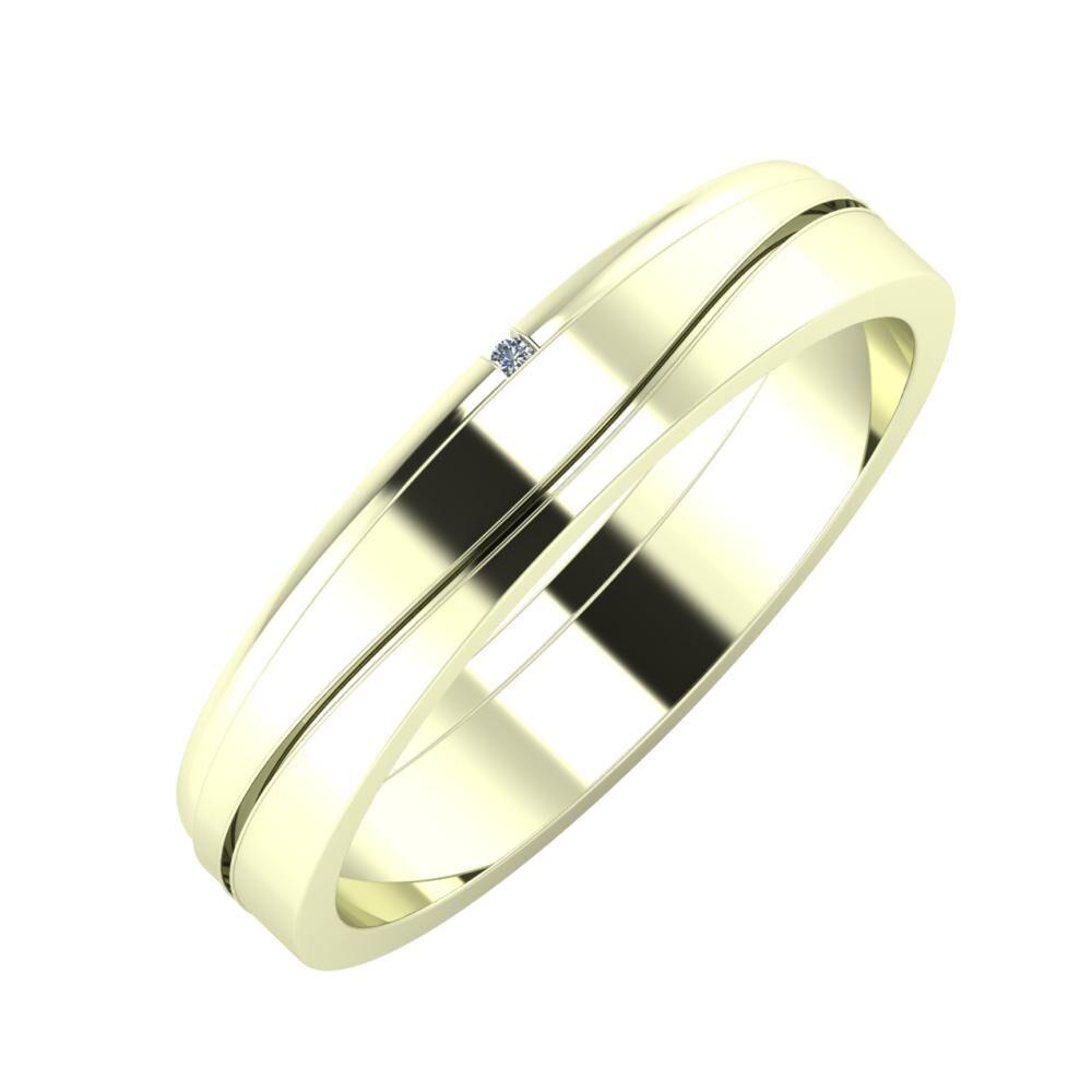 Adalind - Adelinda 4mm 22 karátos fehér arany karikagyűrű