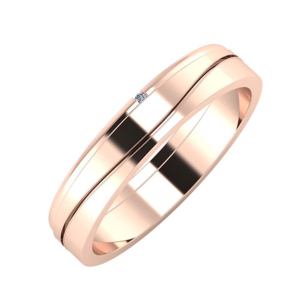 Adalind - Adelinda 4mm 18 karátos rosé arany karikagyűrű