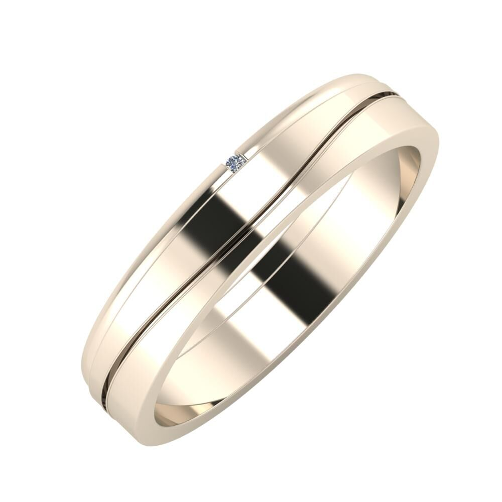 Adalind - Adelinda 4mm 22 karátos rosé arany karikagyűrű