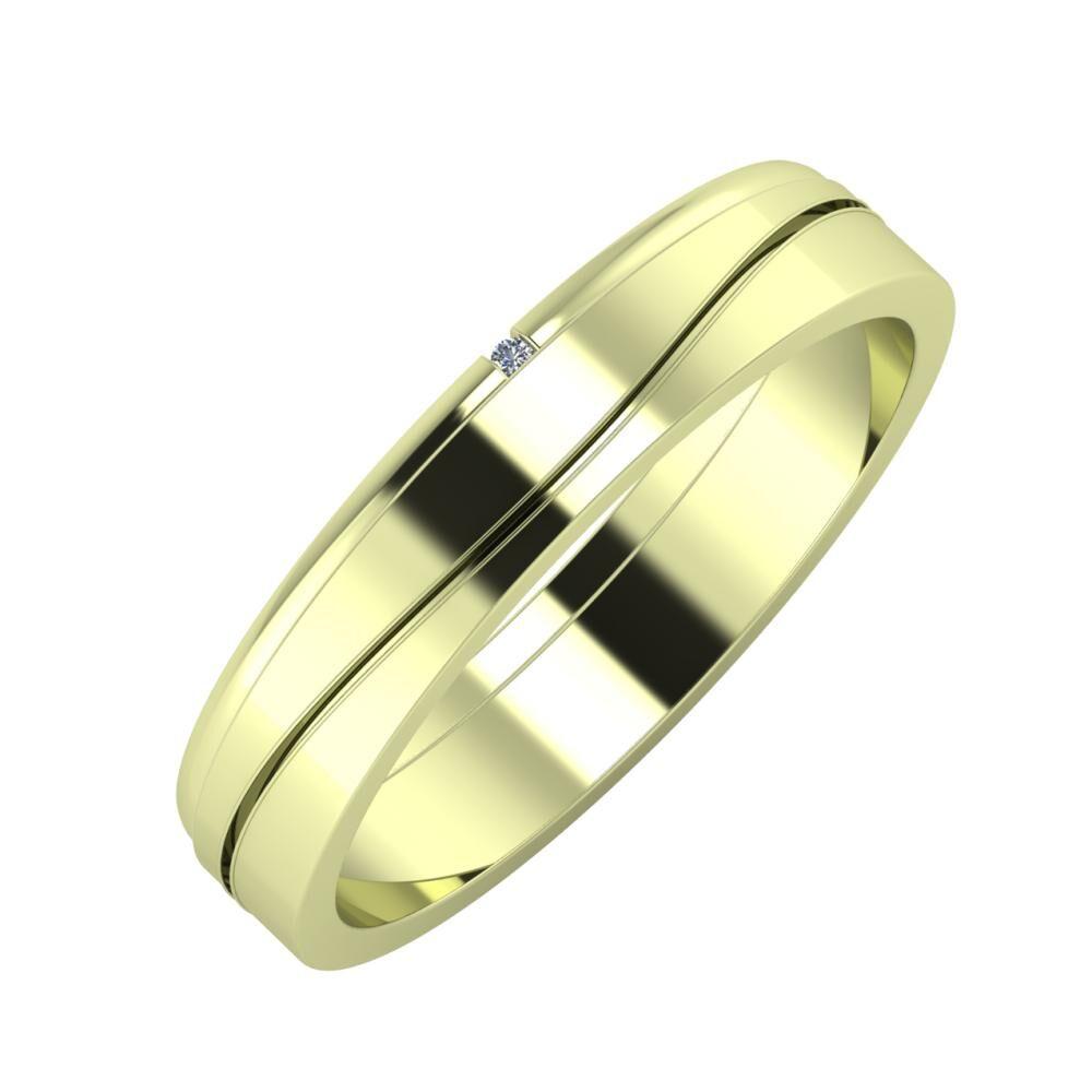 Adalind - Adelinda 4mm 14 karátos zöld arany karikagyűrű