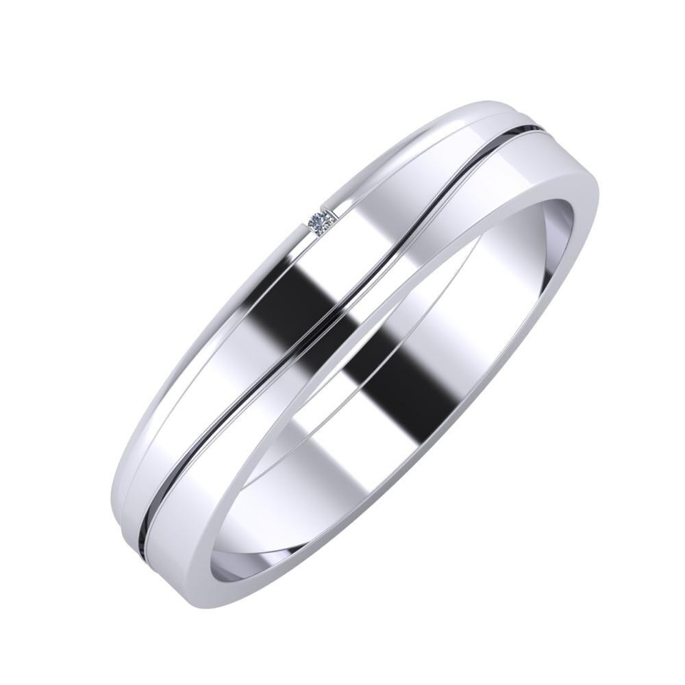 Adalind - Adelinda 4mm platina karikagyűrű