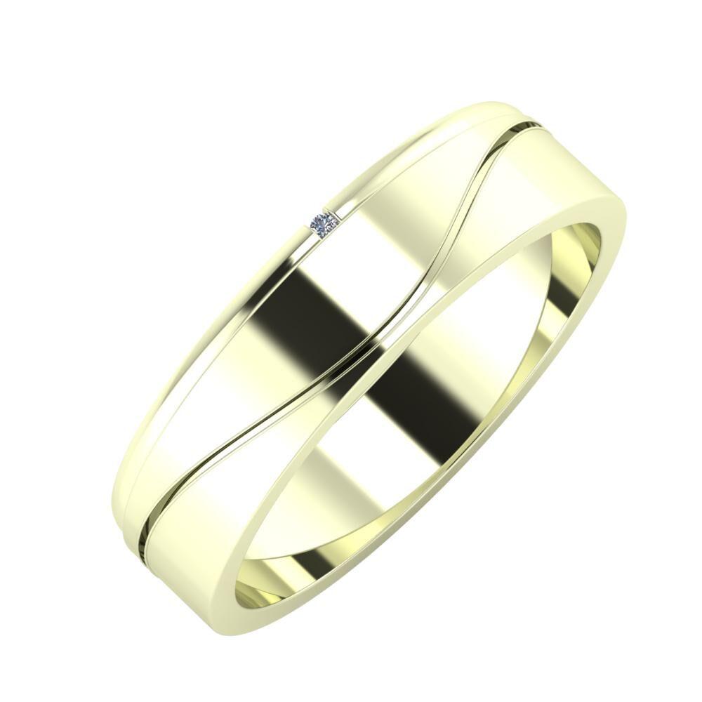 Adalind - Adelinda 5mm 22 karátos fehér arany karikagyűrű