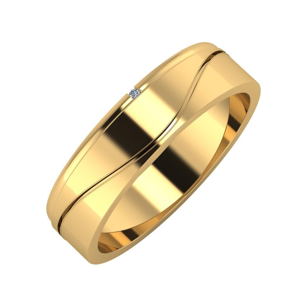 Adalind - Adelinda 5mm 22 karátos sárga arany karikagyűrű