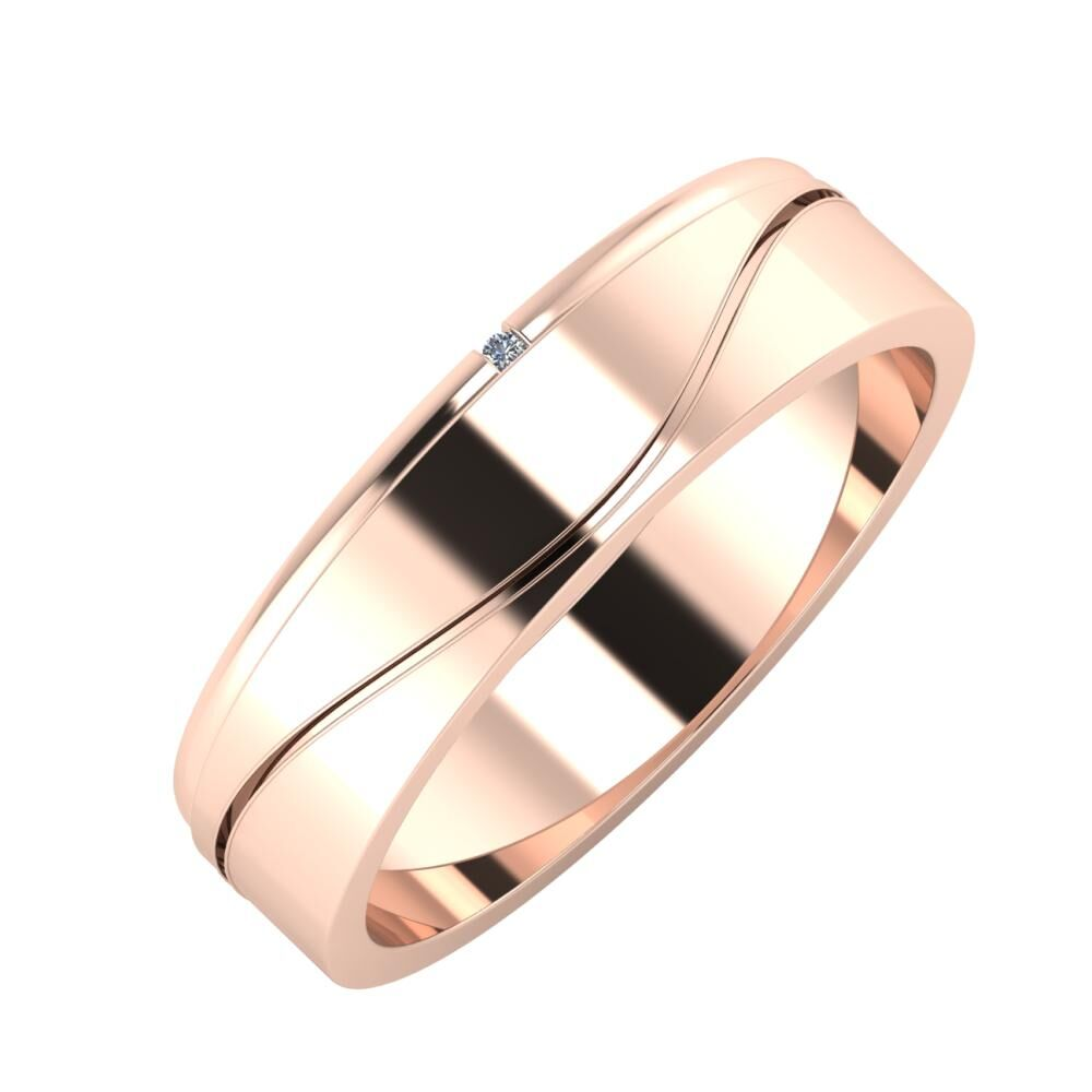 Adalind - Adelinda 5mm 18 karátos rosé arany karikagyűrű