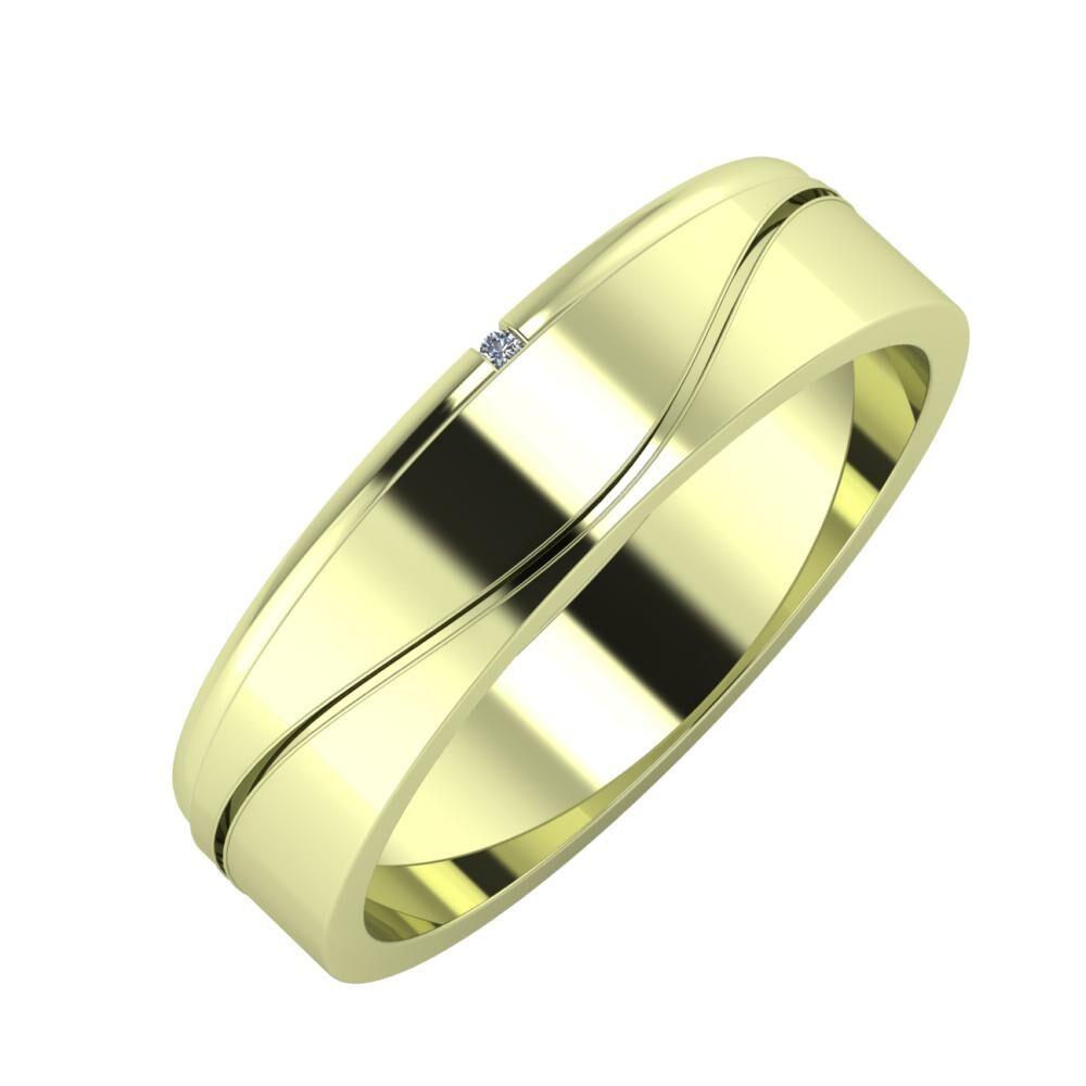 Adalind - Adelinda 5mm 14 karátos zöld arany karikagyűrű