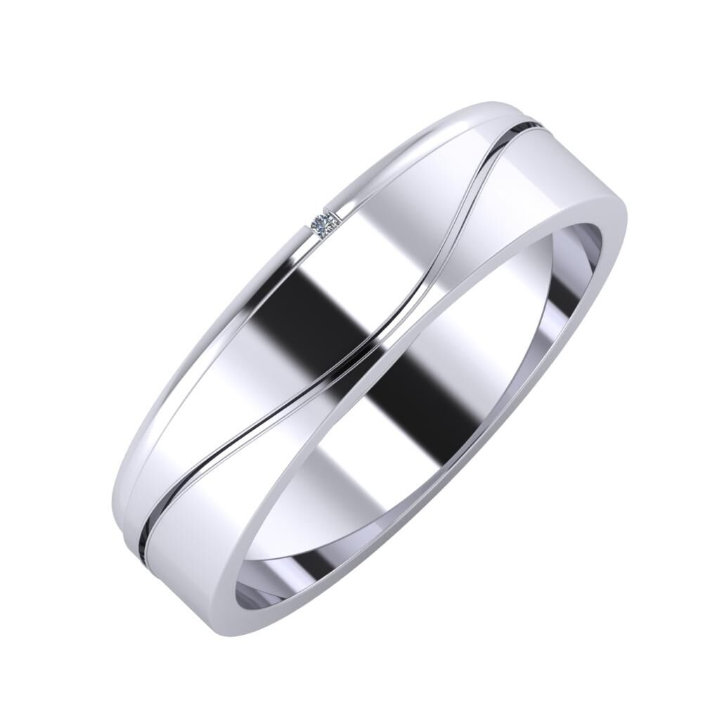 Adalind - Adelinda 5mm platina karikagyűrű