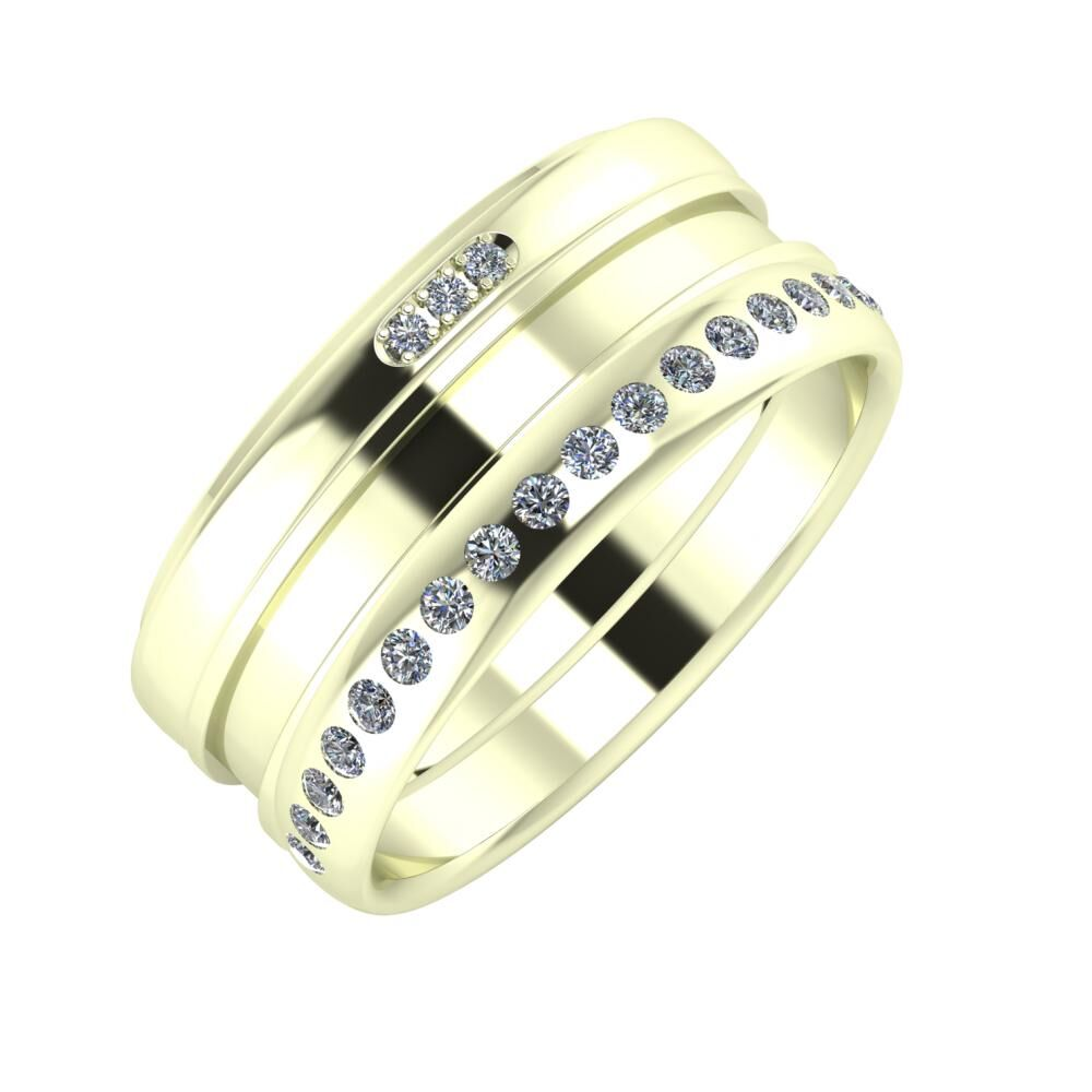 Aleszja - Ajnácska - Aldea 9mm 22 karátos fehér arany karikagyűrű