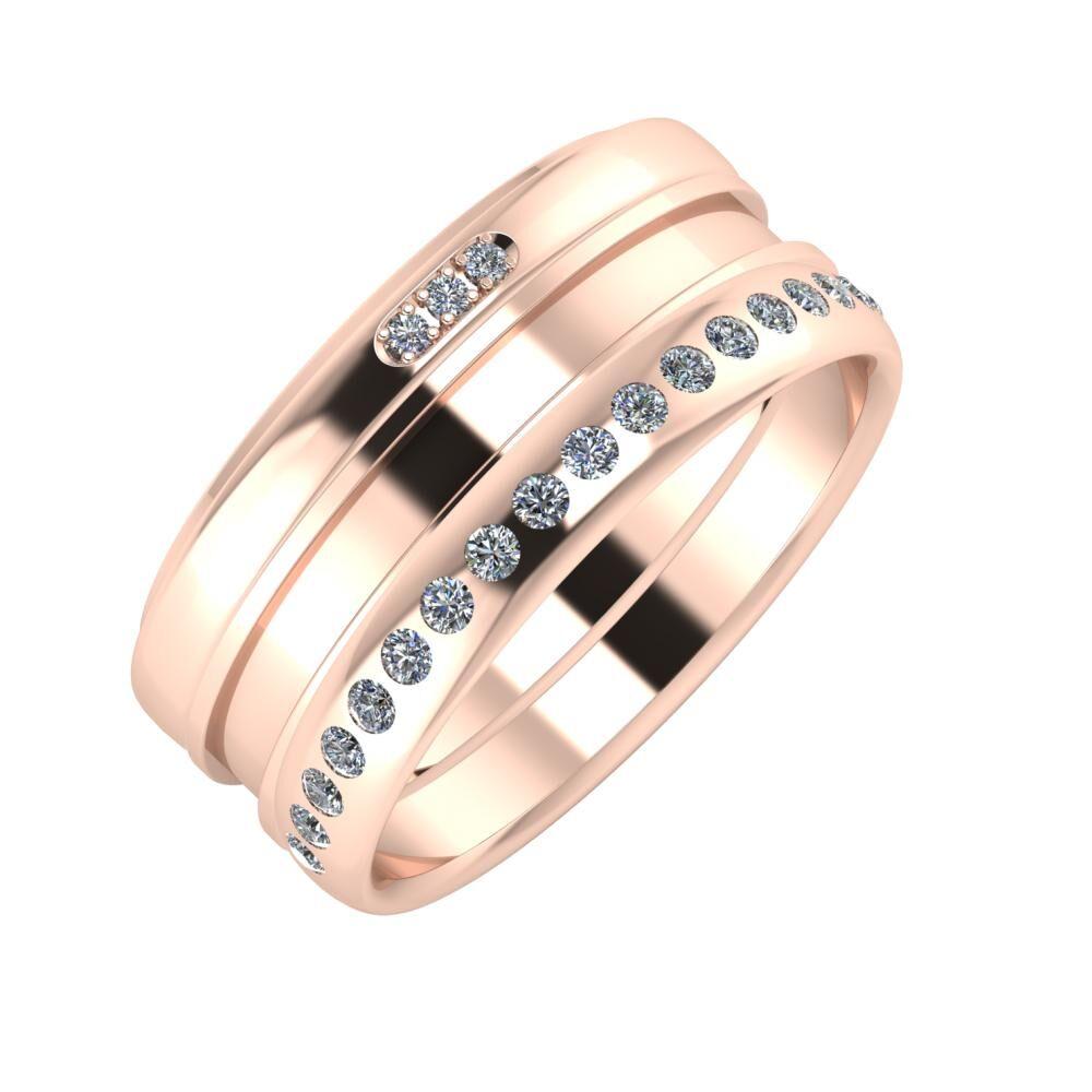 Aleszja - Ajnácska - Aldea 9mm 18 karátos rosé arany karikagyűrű