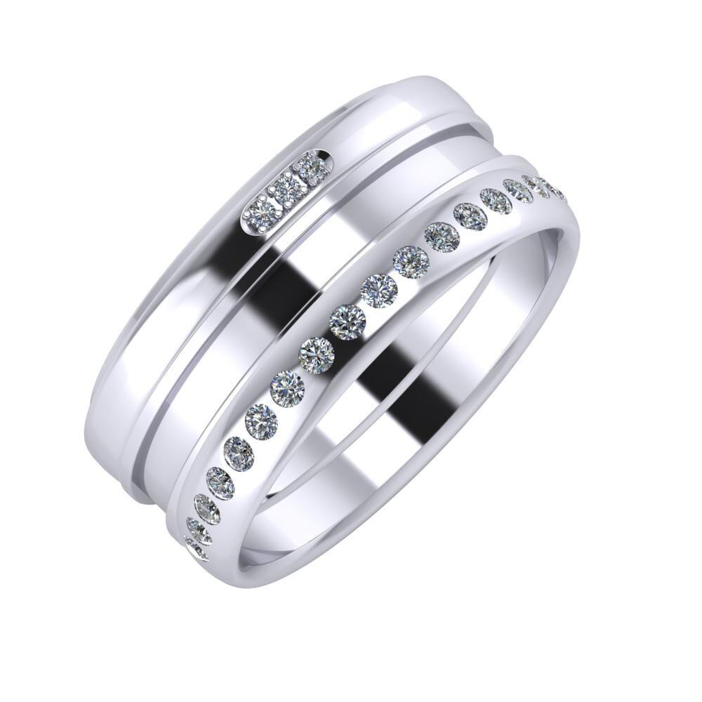 Aleszja - Ajnácska - Aldea 9mm platina karikagyűrű