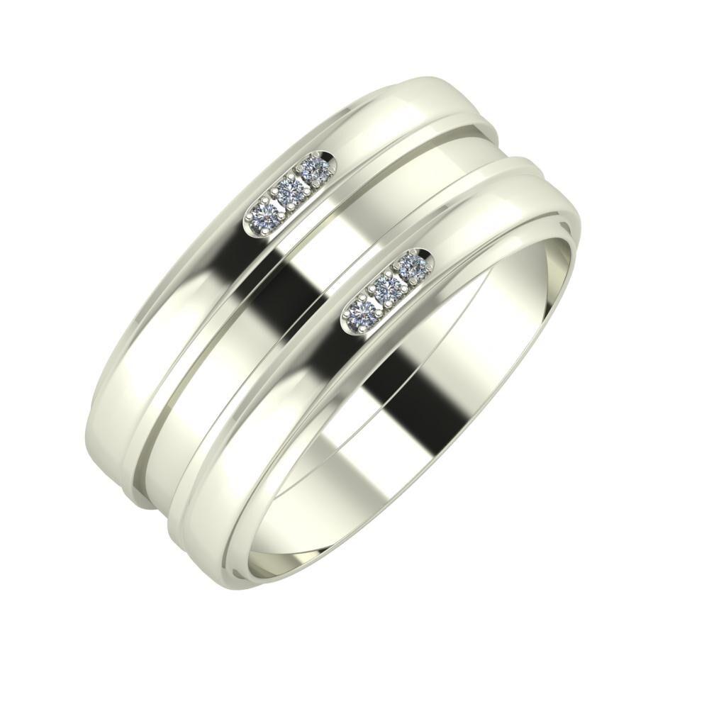 Aleszja - Ajnácska - Aleszja 9mm 14 karátos fehér arany karikagyűrű