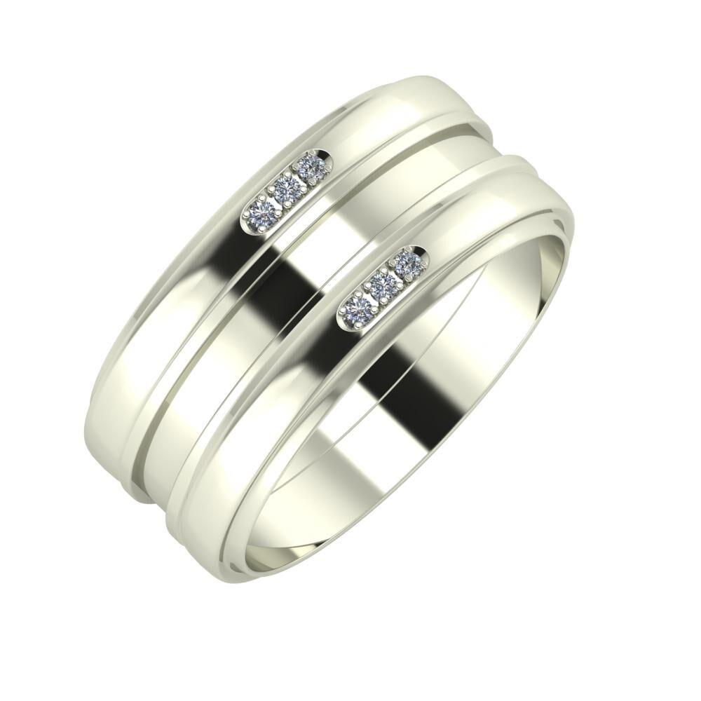 Aleszja - Ajnácska - Aleszja 9mm 18 karátos fehér arany karikagyűrű