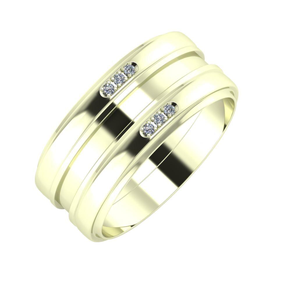 Aleszja - Ajnácska - Aleszja 9mm 22 karátos fehér arany karikagyűrű