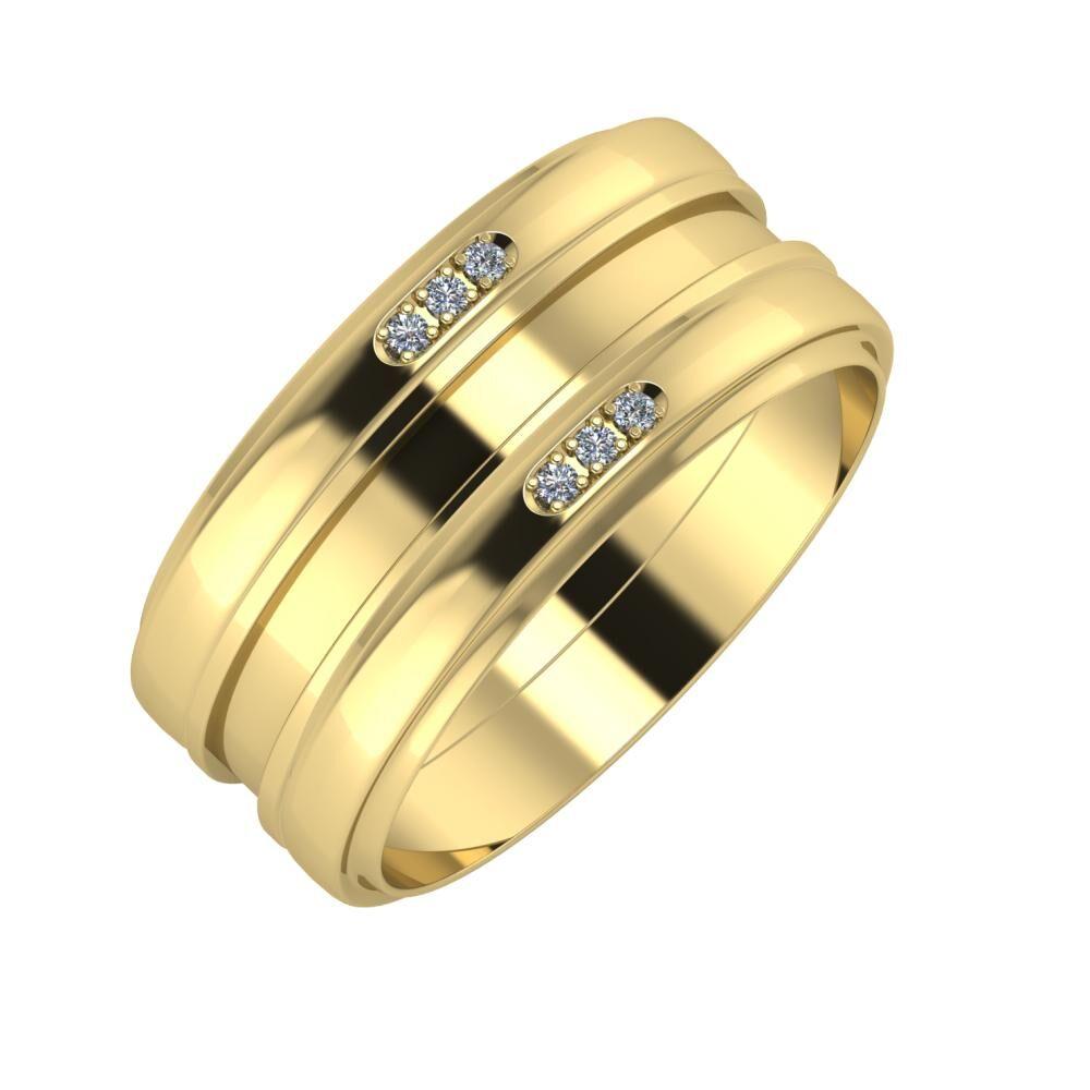 Aleszja - Ajnácska - Aleszja 9mm 14 karátos sárga arany karikagyűrű