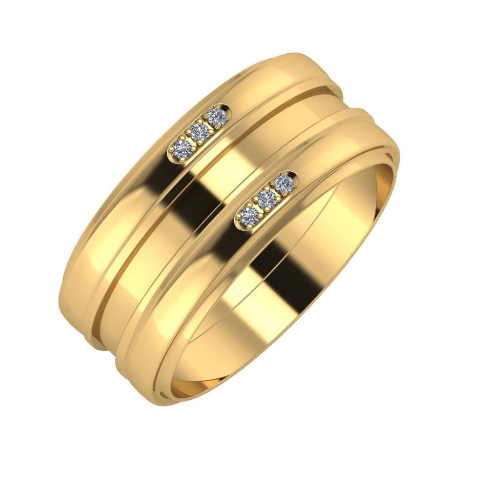 Aleszja - Ajnácska - Aleszja 9mm 22 karátos sárga arany karikagyűrű