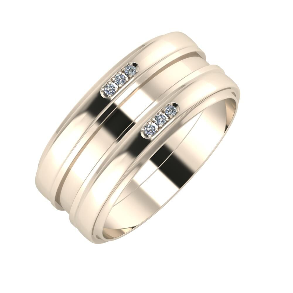 Aleszja - Ajnácska - Aleszja 9mm 22 karátos rosé arany karikagyűrű