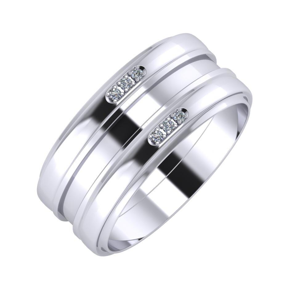 Aleszja - Ajnácska - Aleszja 9mm platina karikagyűrű
