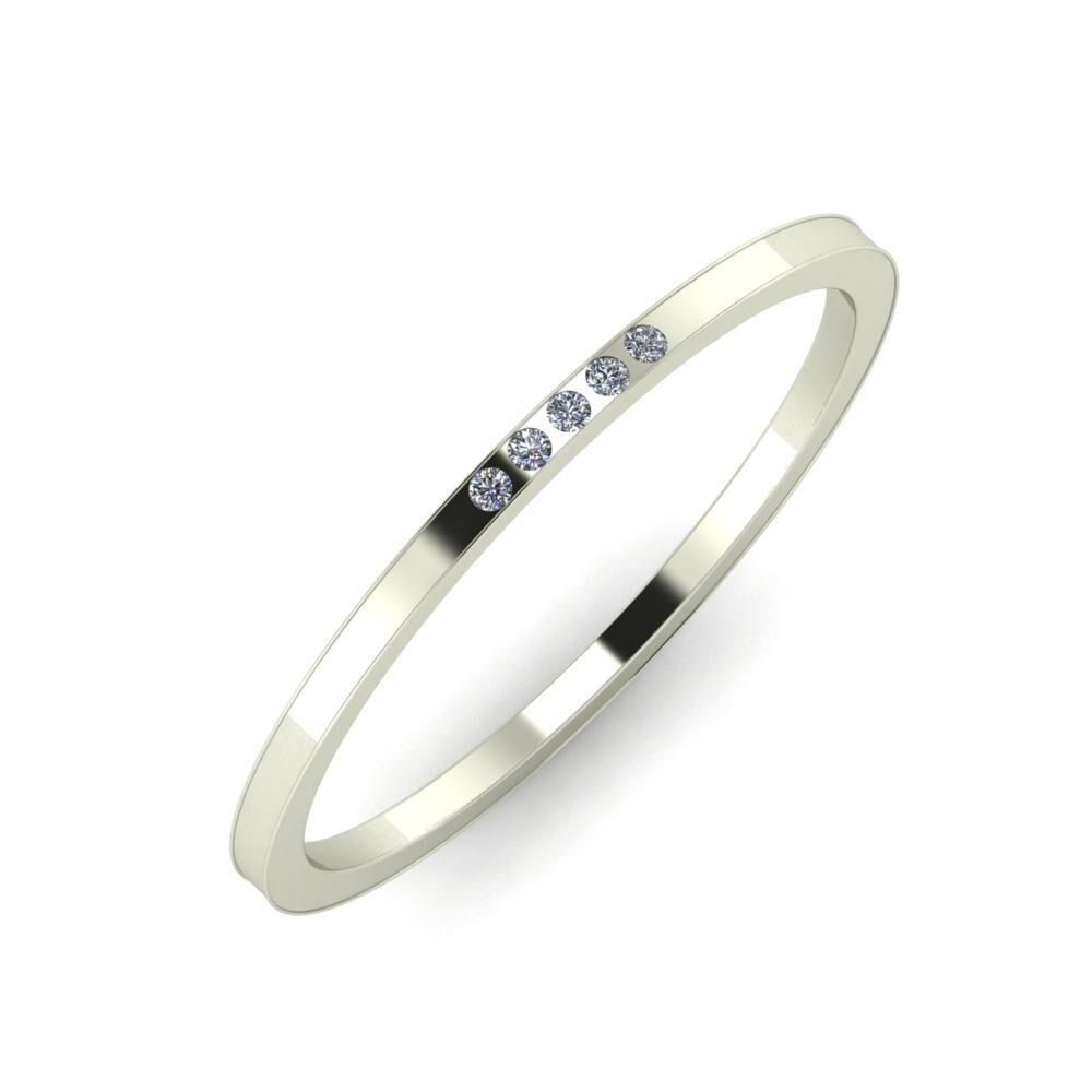 Aleszja - Ajra - Adelaida 5mm 18 karátos fehér arany karikagyűrű
