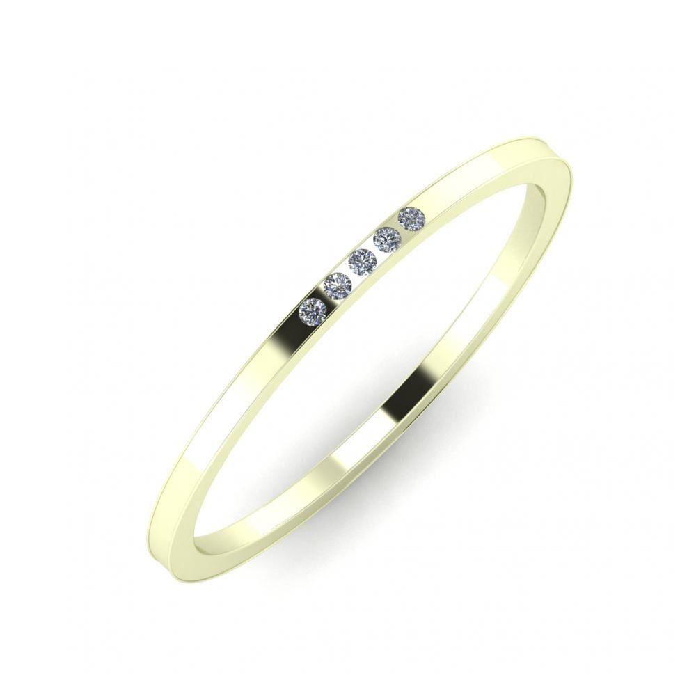 Aleszja - Ajra - Adelaida 5mm 22 karátos fehér arany karikagyűrű
