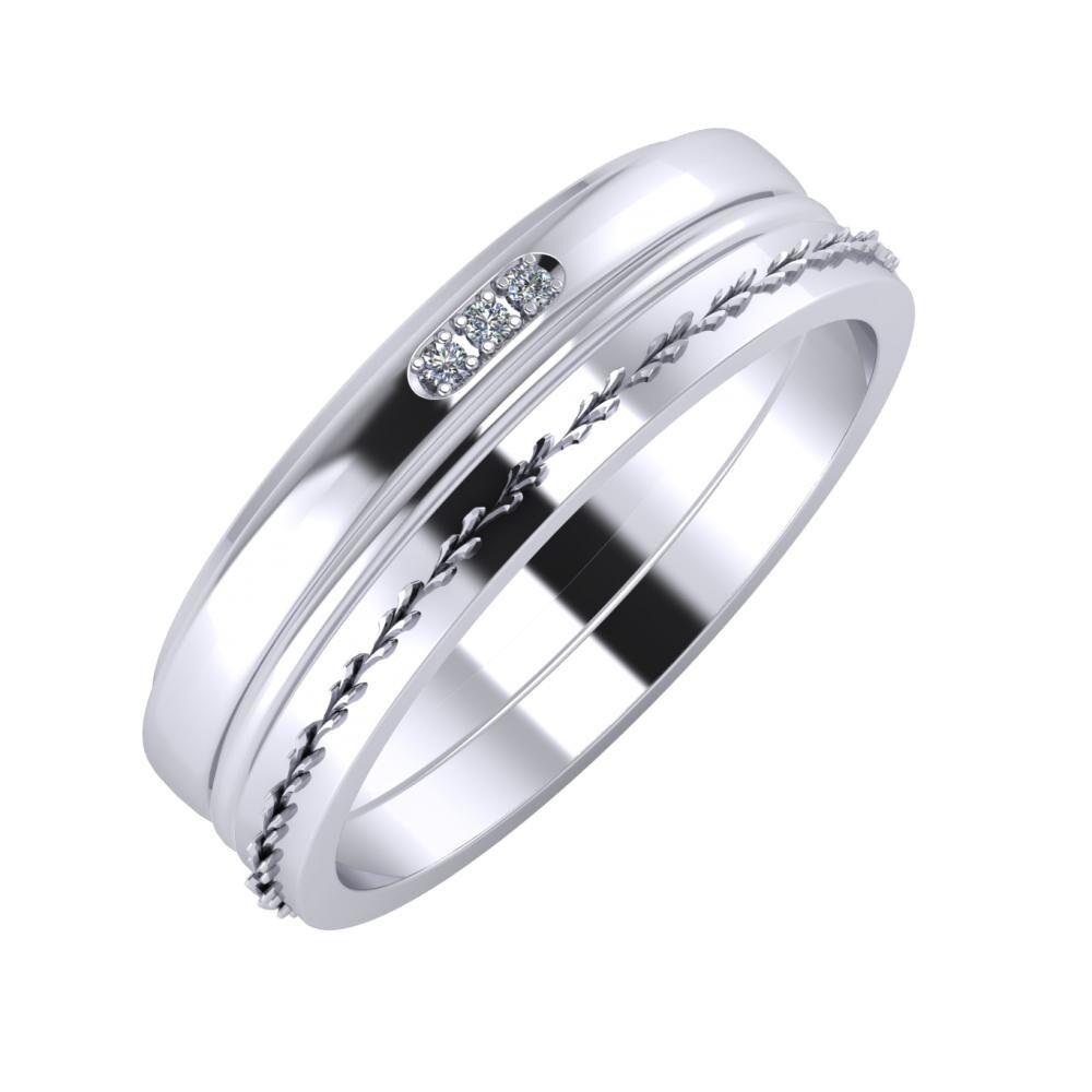 Aleszja - Ajra - Aglent 6mm platina karikagyűrű