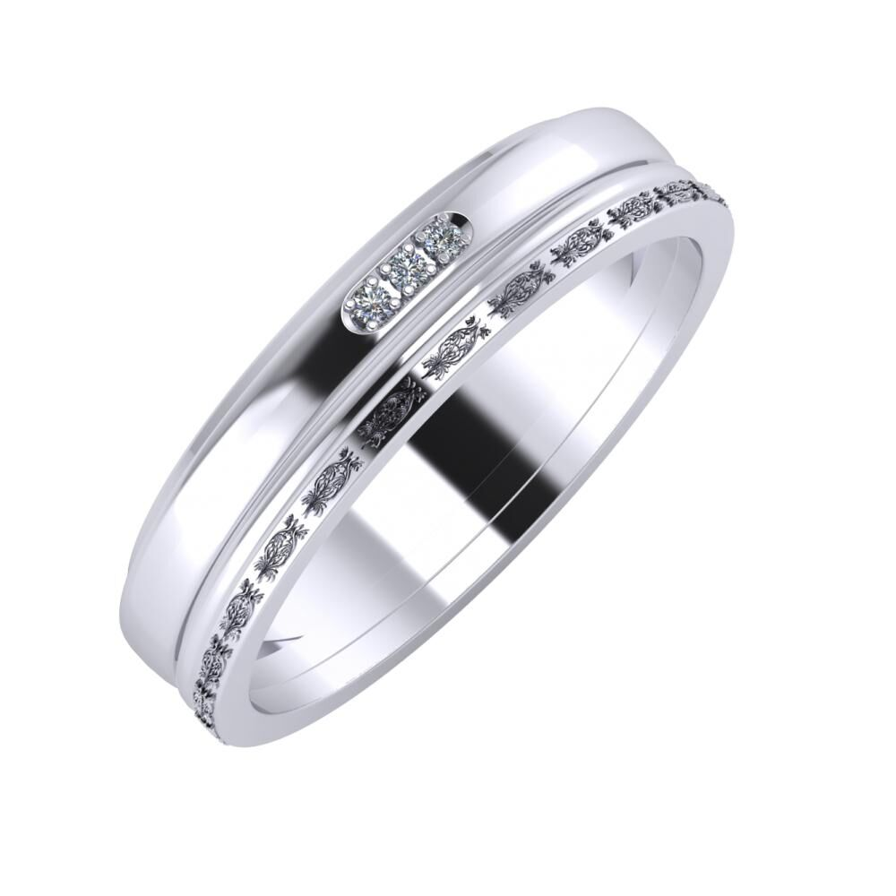 Aleszja - Ajra - Agnella 5mm platina karikagyűrű