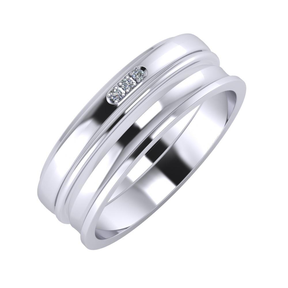 Aleszja - Ajra - Ainó 7mm platina karikagyűrű
