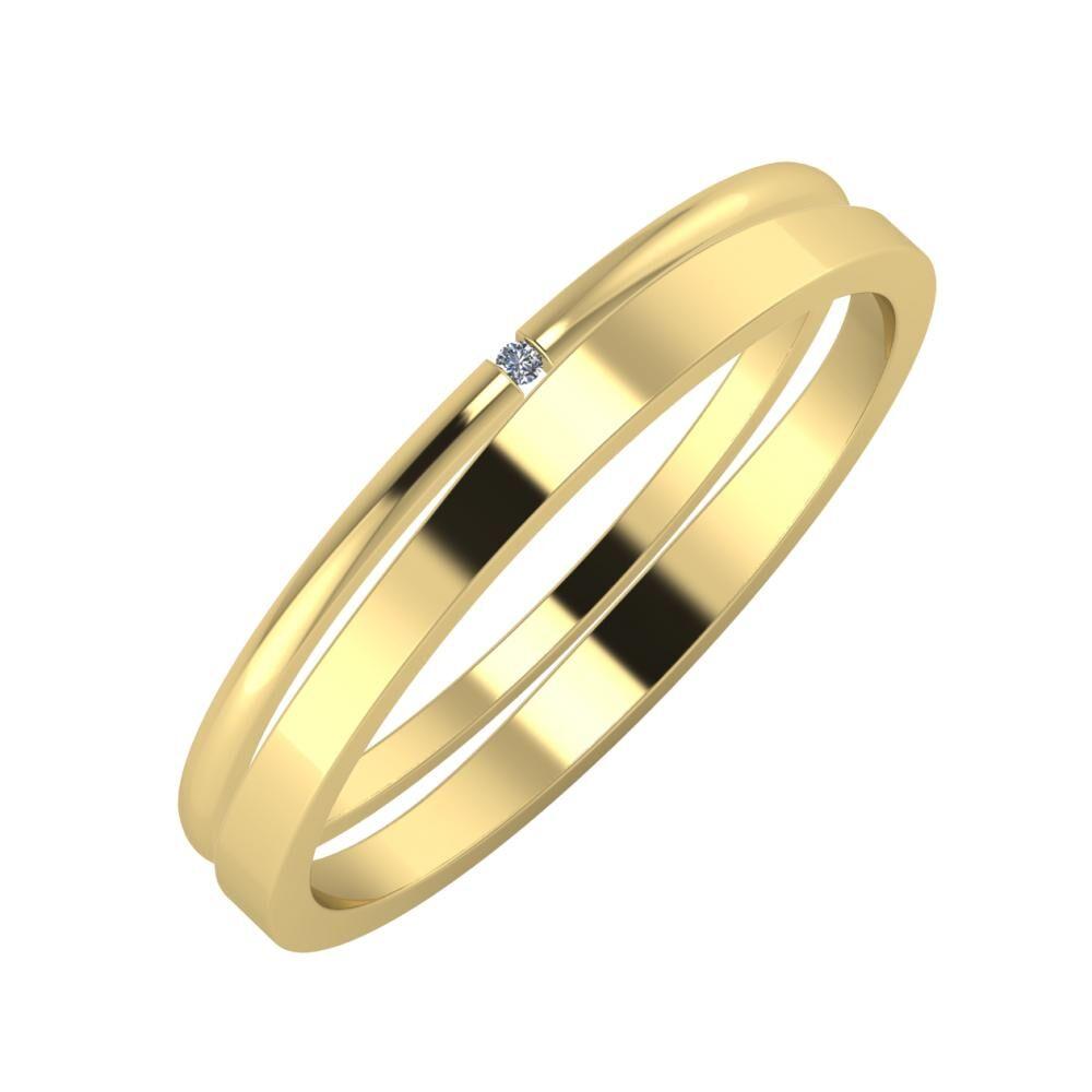 Adalind - Adria 3mm 14 karátos sárga arany karikagyűrű