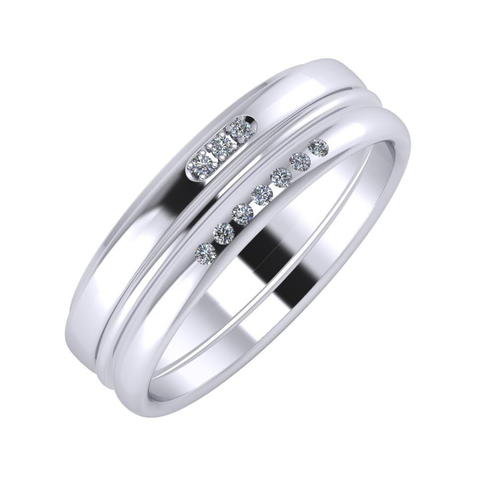 Aleszja - Ajra - Albertina 6mm platina karikagyűrű