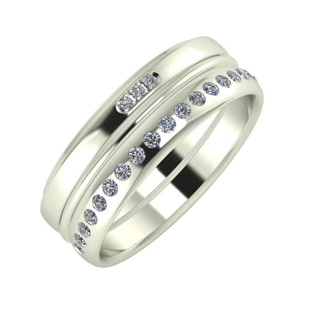 Aleszja - Ajra - Aldea 7mm 18 karátos fehér arany karikagyűrű