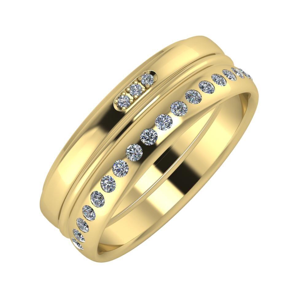 Aleszja - Ajra - Aldea 7mm 14 karátos sárga arany karikagyűrű