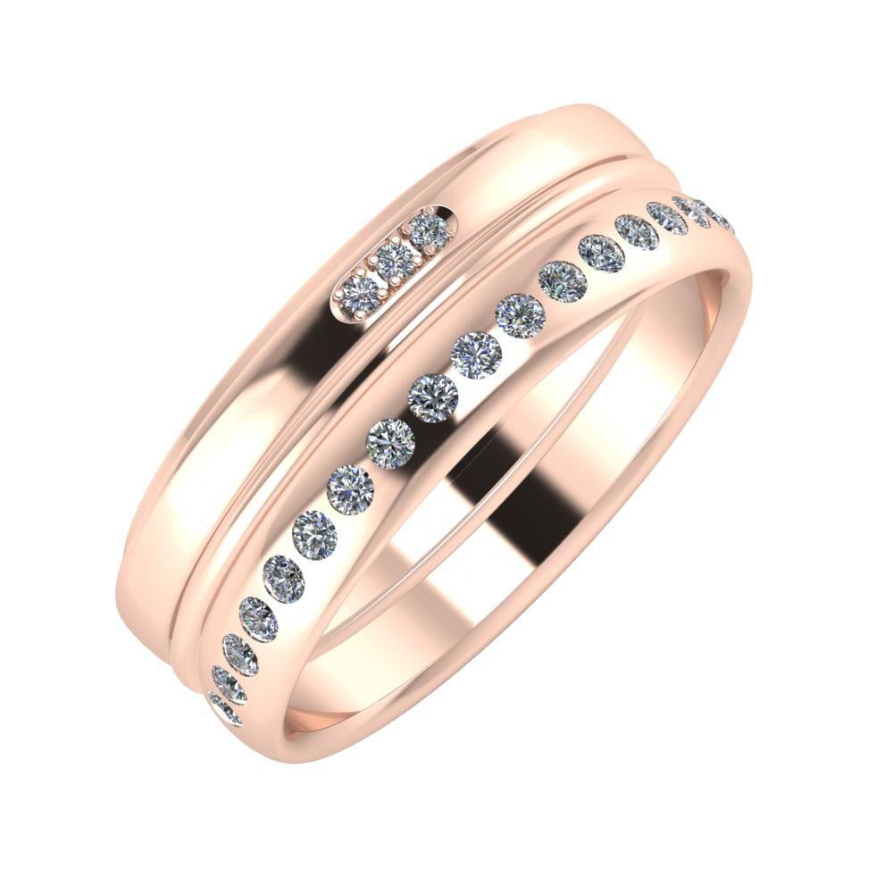 Aleszja - Ajra - Aldea 7mm 14 karátos rosé arany karikagyűrű