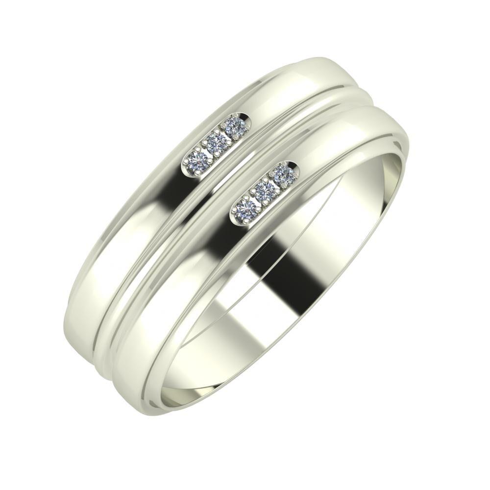 Aleszja - Ajra - Aleszja 7mm 14 karátos fehér arany karikagyűrű