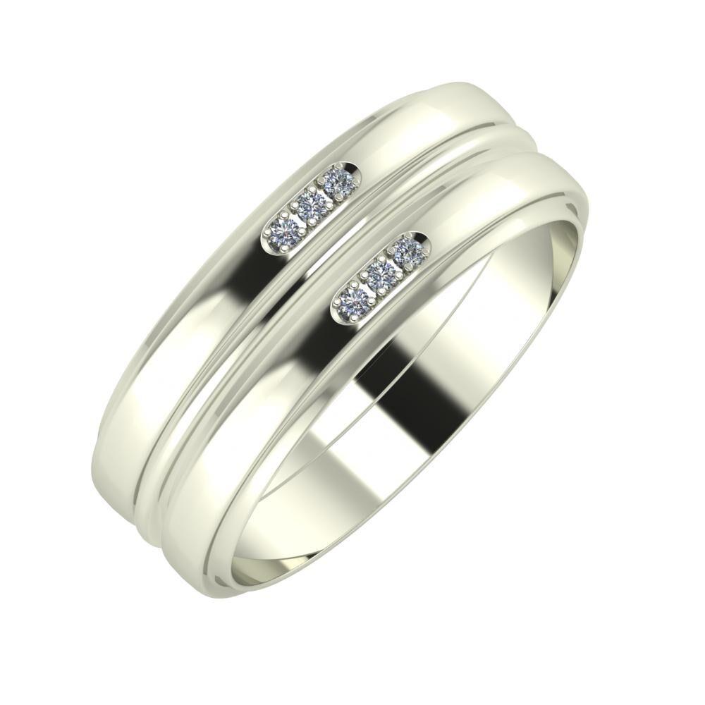 Aleszja - Ajra - Aleszja 7mm 18 karátos fehér arany karikagyűrű