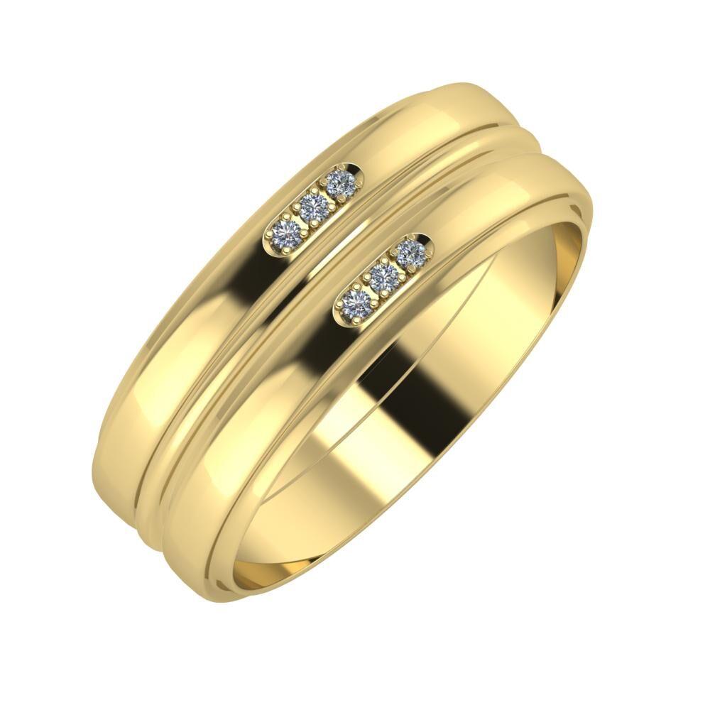 Aleszja - Ajra - Aleszja 7mm 14 karátos sárga arany karikagyűrű