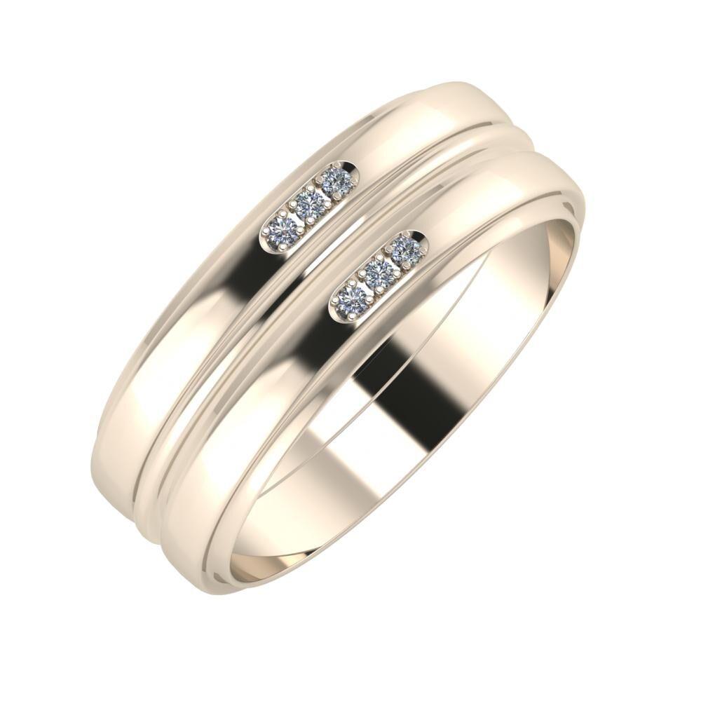 Aleszja - Ajra - Aleszja 7mm 22 karátos rosé arany karikagyűrű