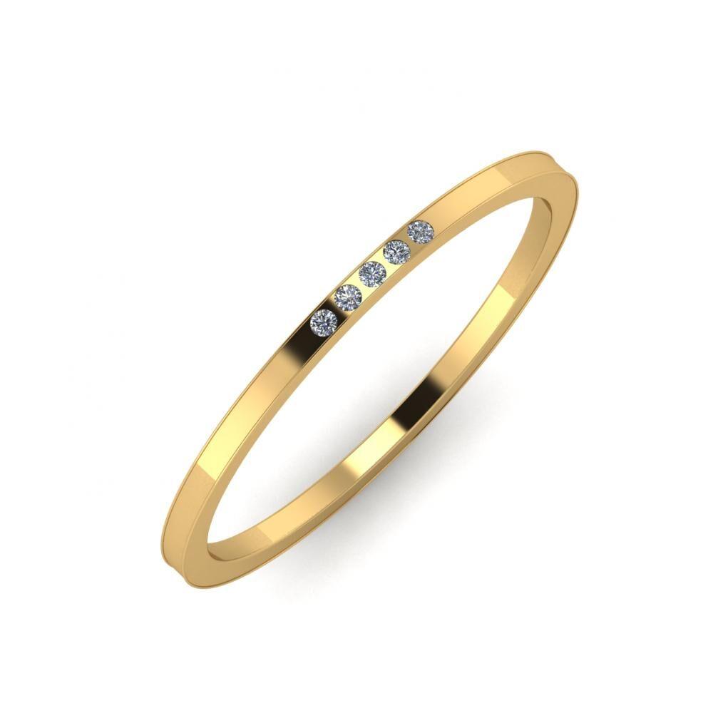 Aleszja - Albertina - Adelaida 6mm 18 karátos sárga arany karikagyűrű