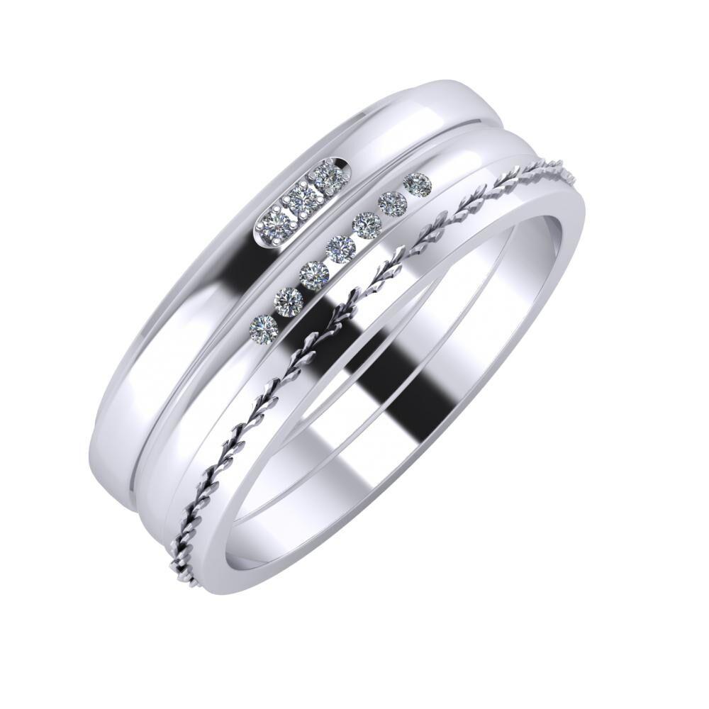 Aleszja - Albertina - Aglent 7mm platina karikagyűrű