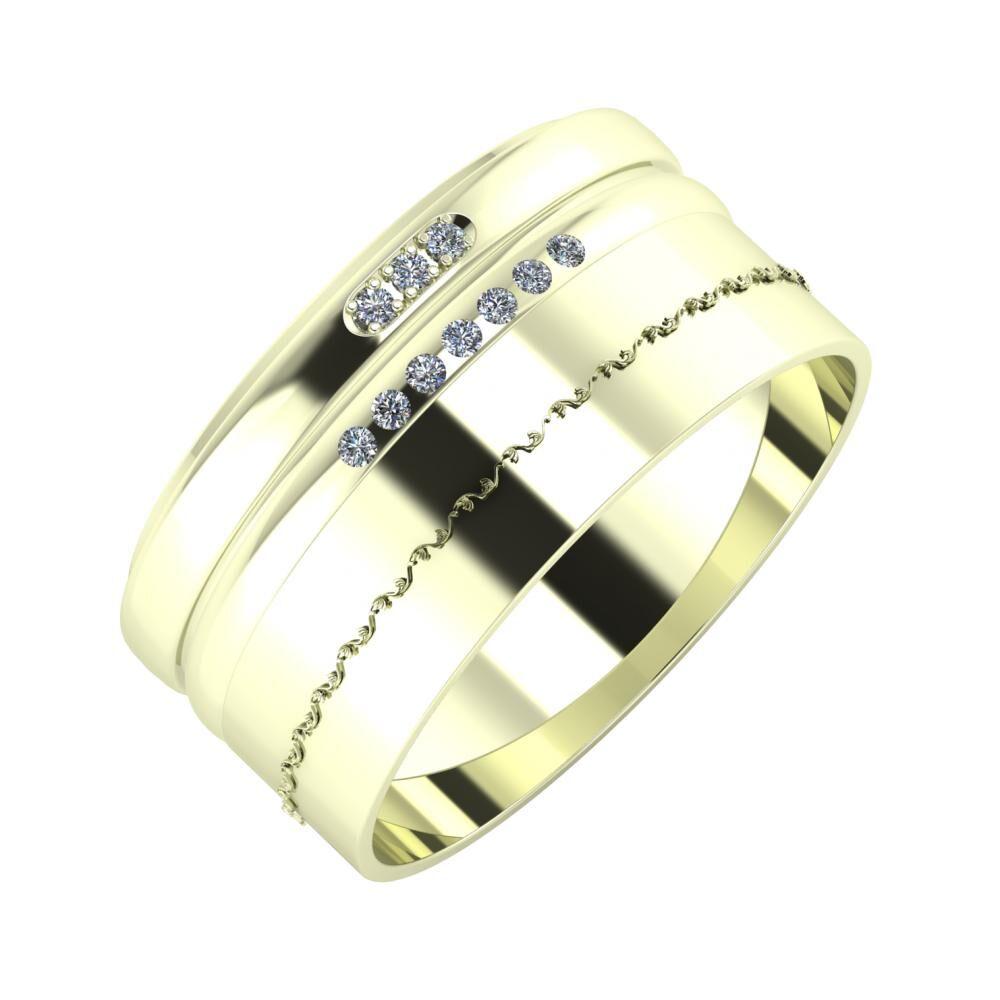 Aleszja - Albertina - Agnabella 10mm 22 karátos fehér arany karikagyűrű