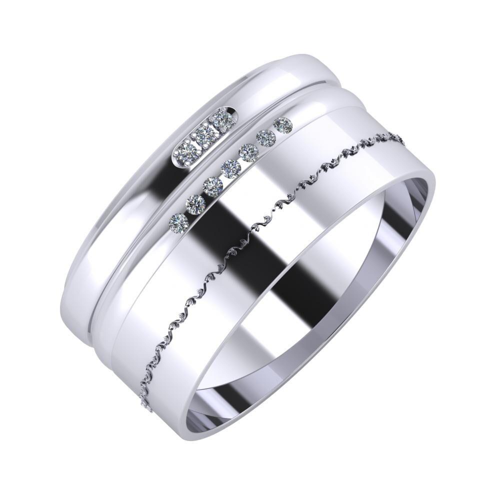 Aleszja - Albertina - Agnabella 10mm platina karikagyűrű