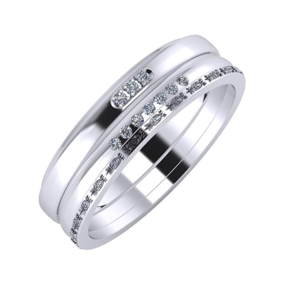 Aleszja - Albertina - Agnella 6mm platina karikagyűrű