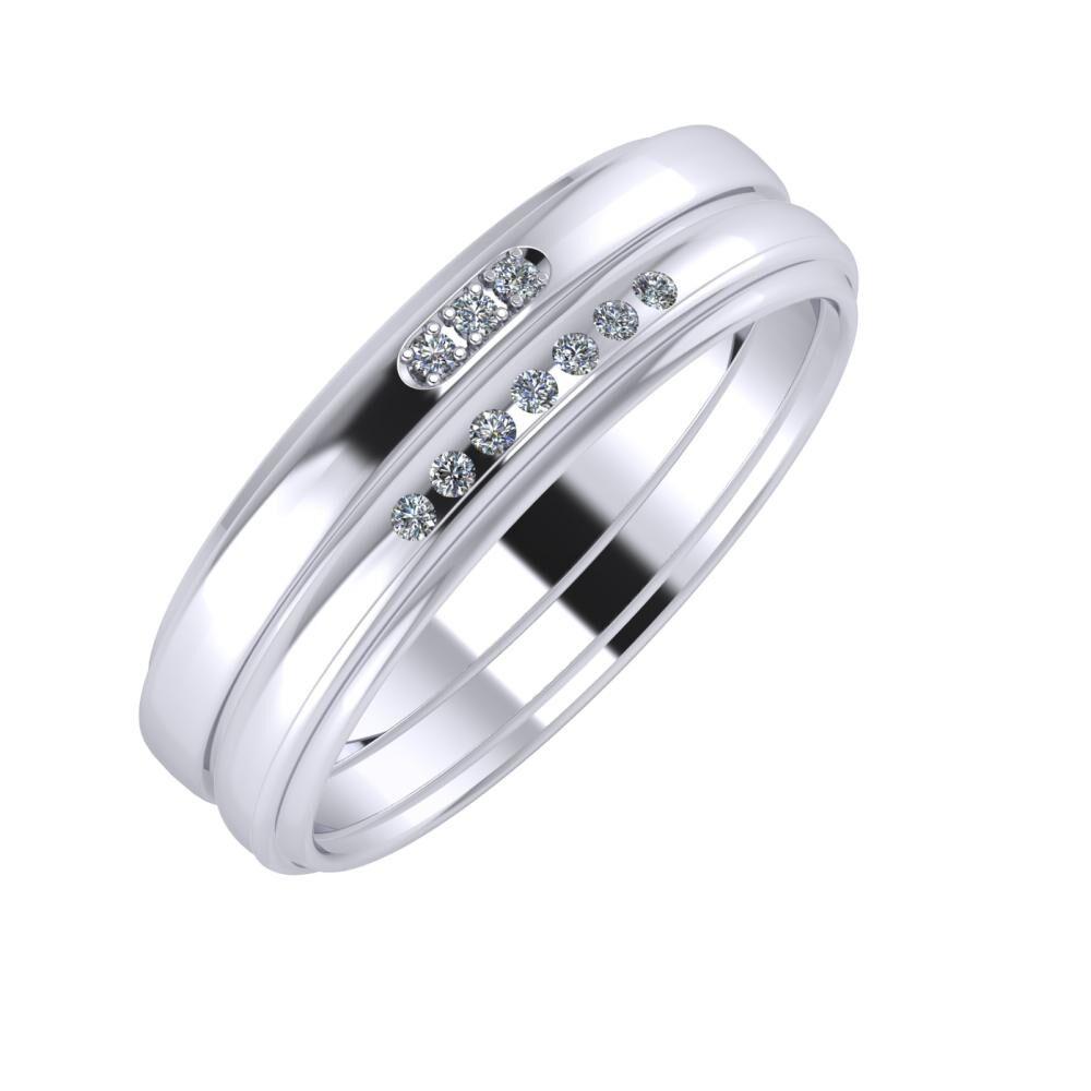Aleszja - Albertina - Agrippína 6mm platina karikagyűrű