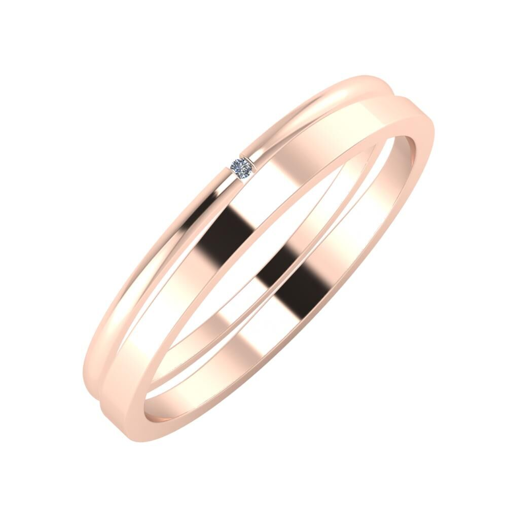 Adalind - Adria 3mm 14 karátos rosé arany karikagyűrű