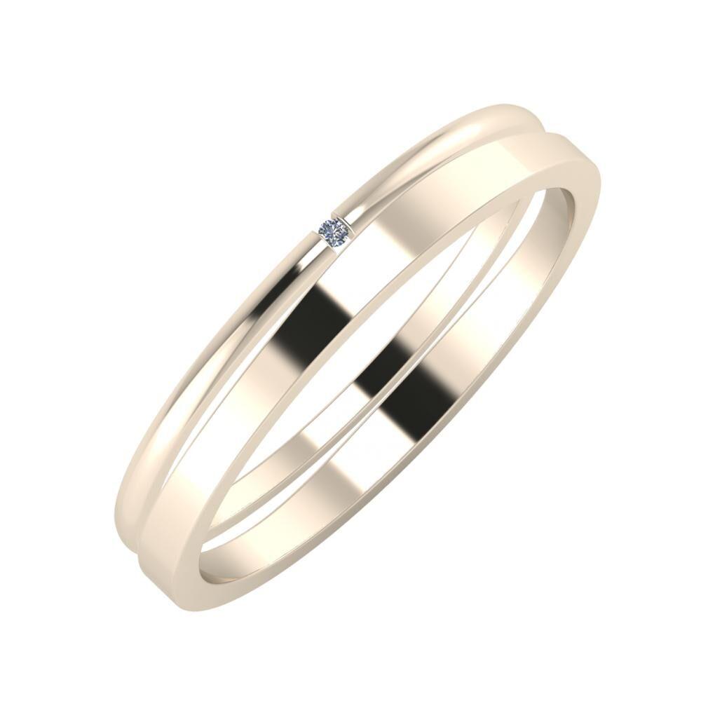 Adalind - Adria 3mm 22 karátos rosé arany karikagyűrű