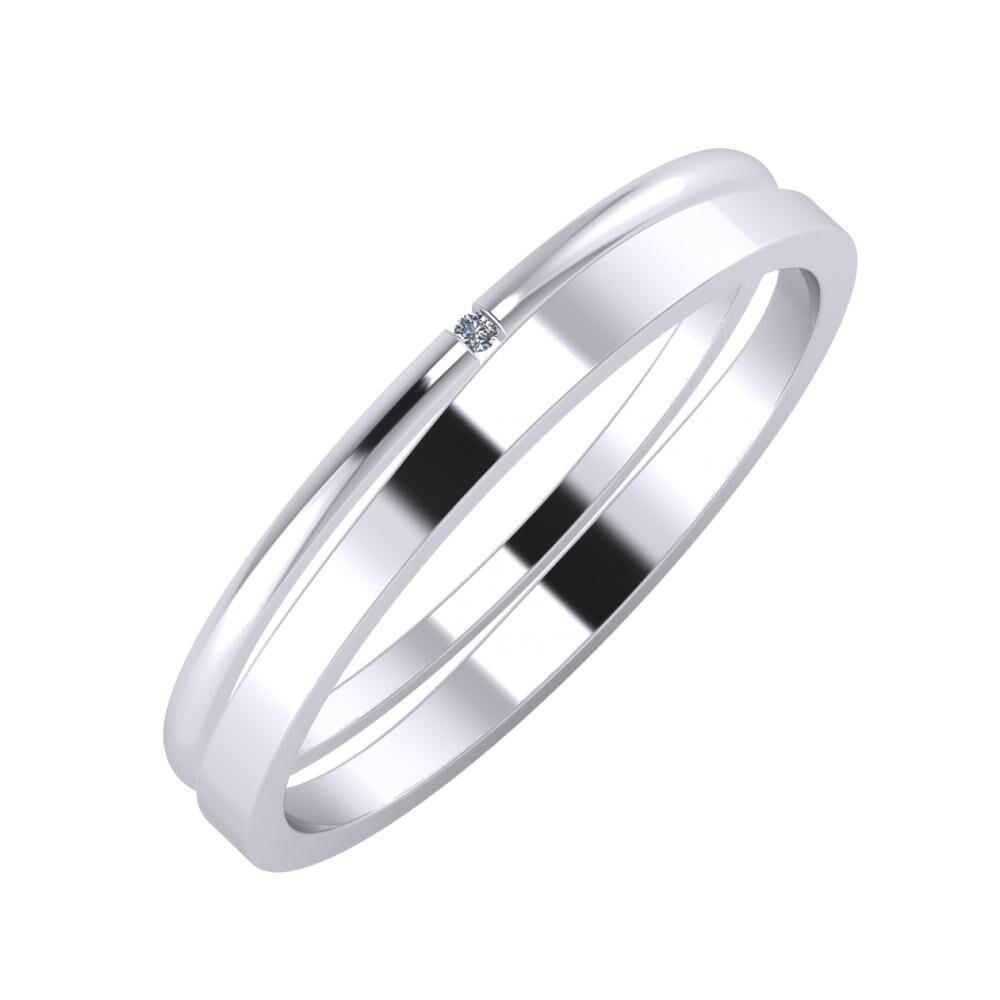 Adalind - Adria 3mm platina karikagyűrű