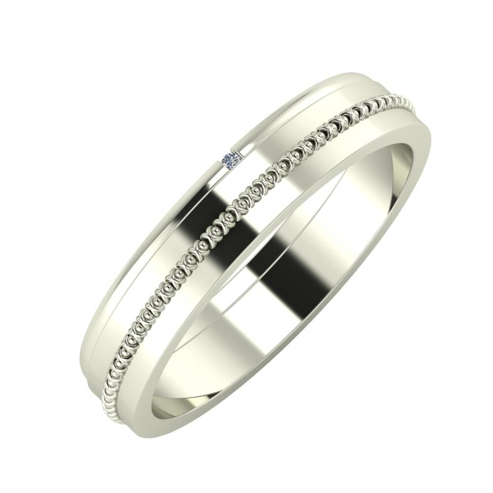 Adalind - Afrodita 4mm 14 karátos fehér arany karikagyűrű